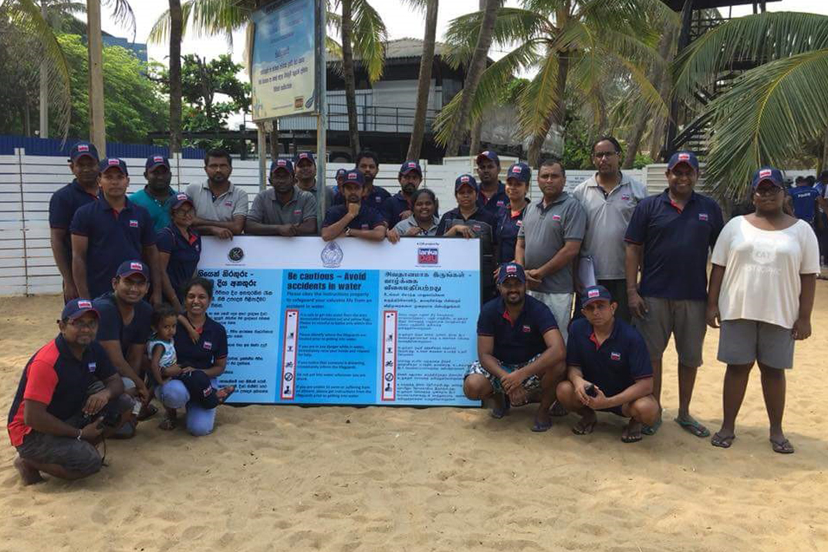 Mount Lavinia Beach Cleaning and Installation of Life Saving Instruction Boards